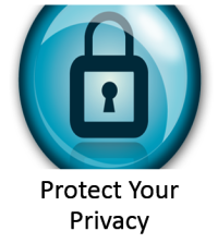 Protect your privacy with logo