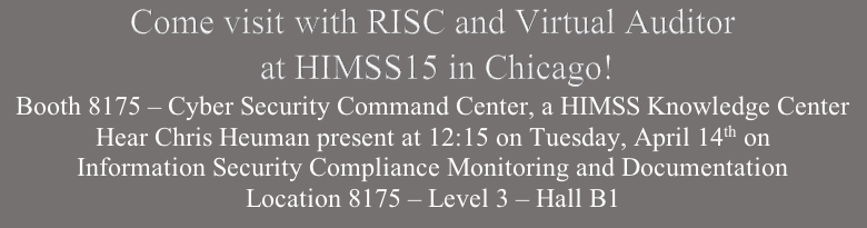 RISC and VA in HIMSS15